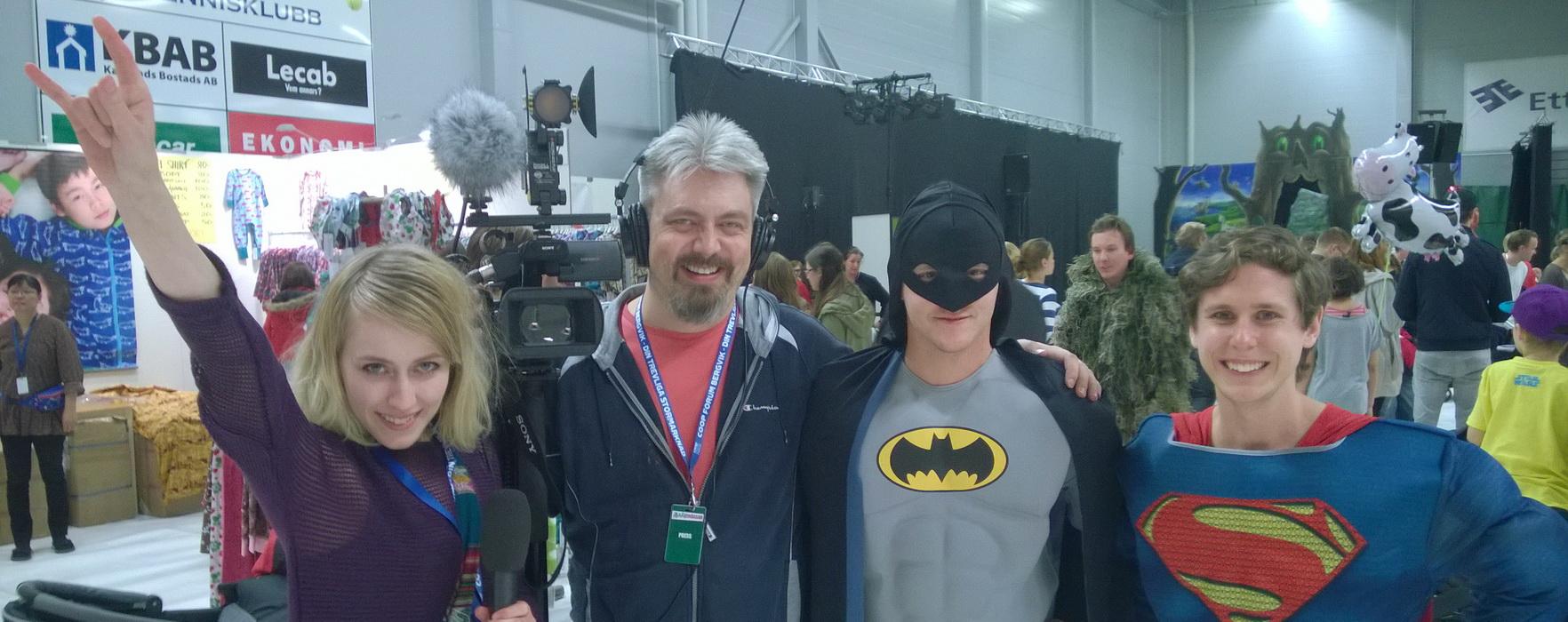 Batman och Superman på Barnmässan 2014