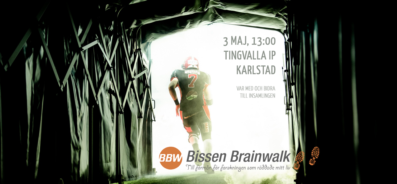 Carlstad Crusaders välgörenhetsmatch för Bissen Brainwalk