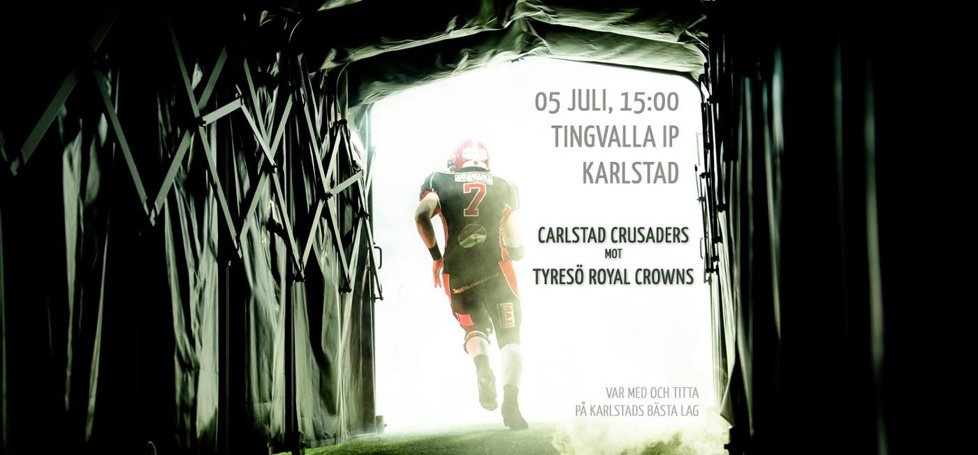 Carlstad Crusaders–Tyresö Royal Crowns