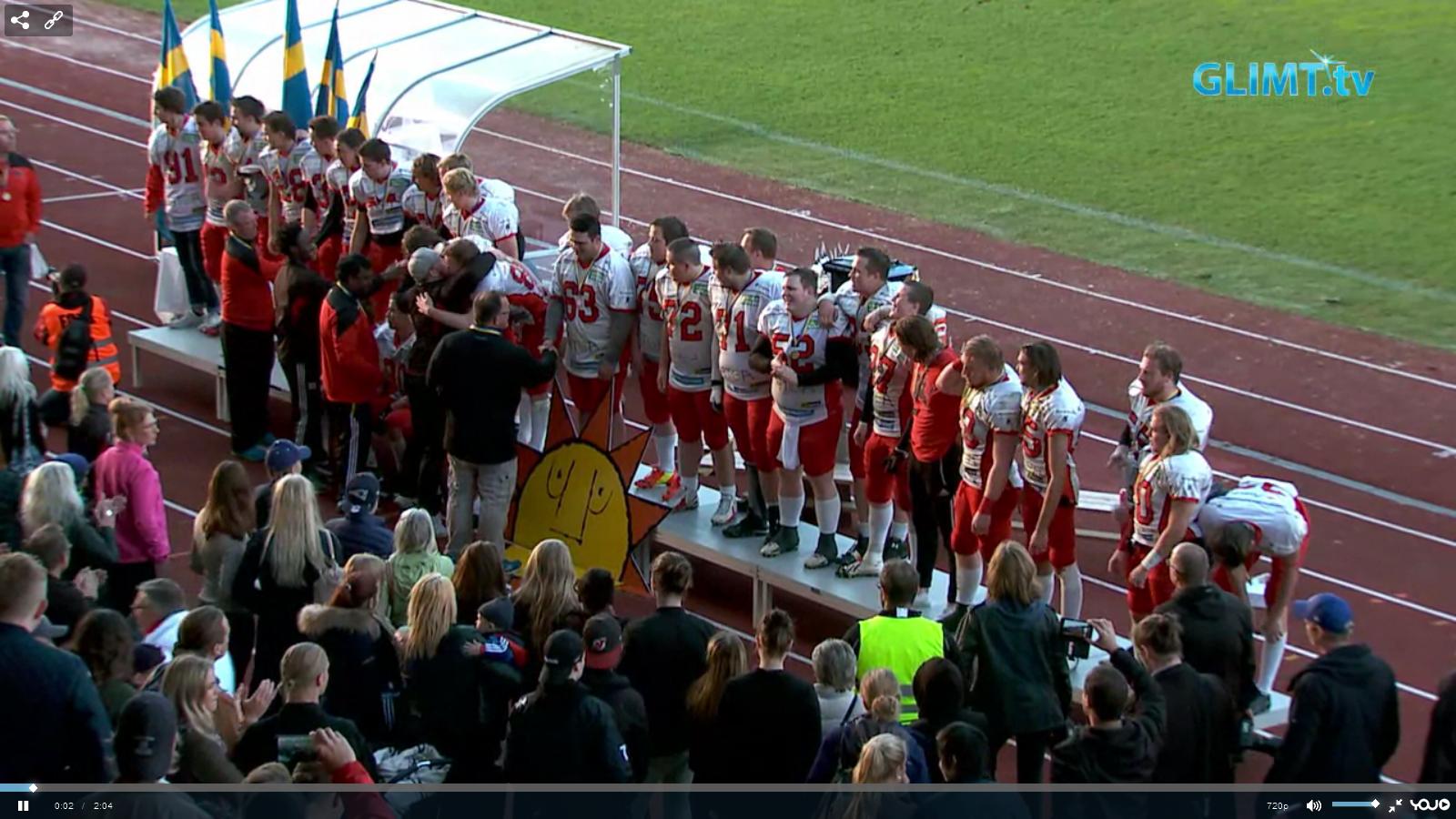 Carlstad Crusaders Svenska juniormästare 2015
