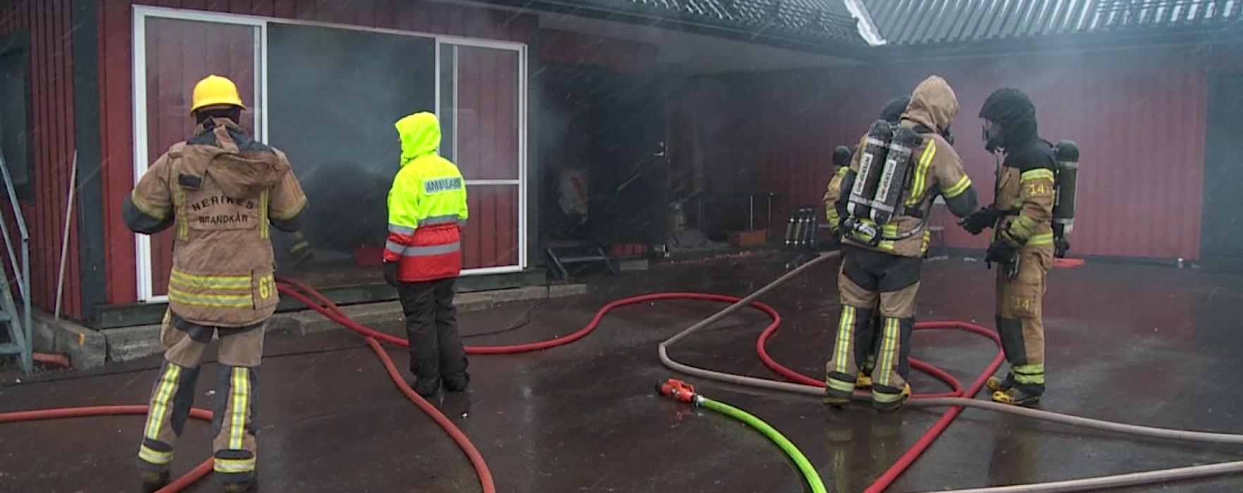 Brandövning i Karlstad