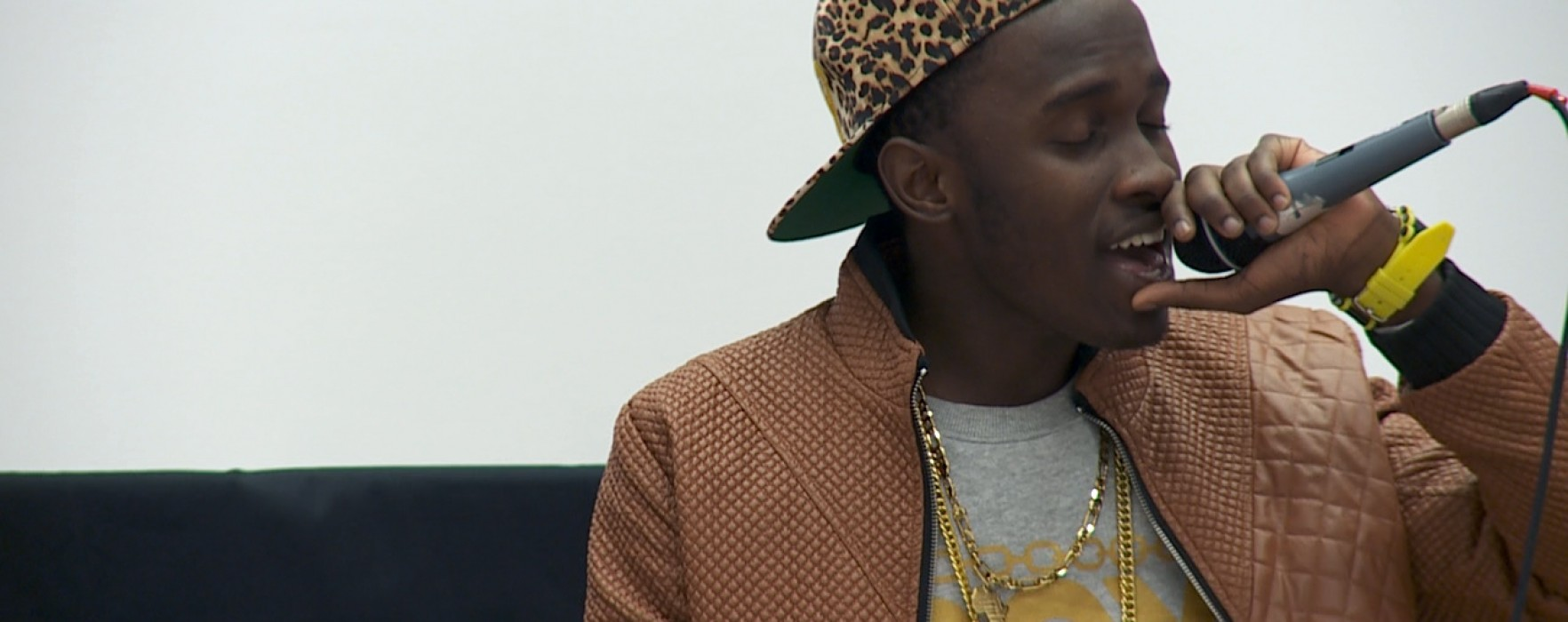 Hiphop-gruppen Destiny spelar på Kristinehamns konstmuseum