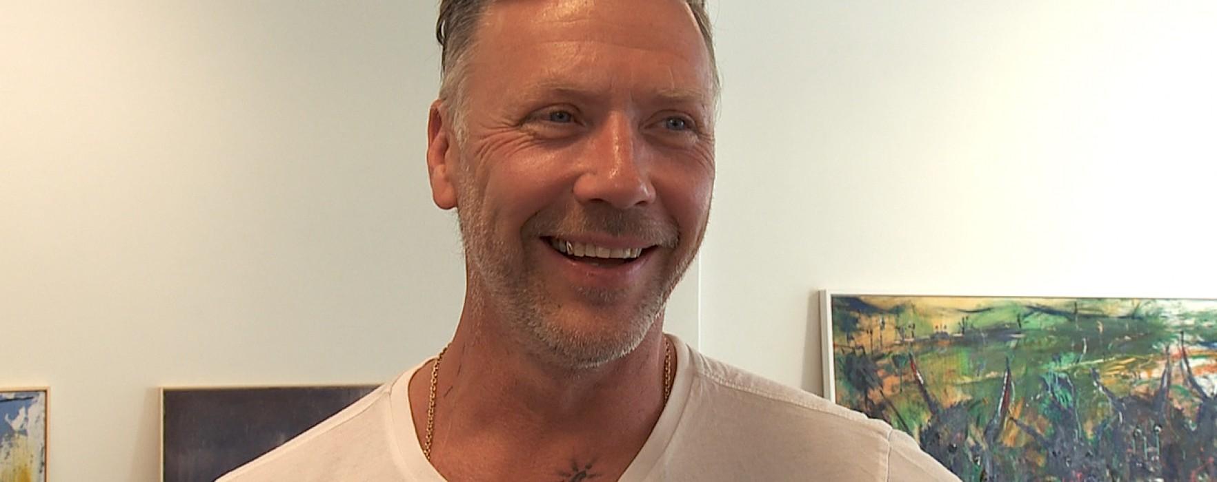 Persbrandt på Sandgrund Lars Lerin