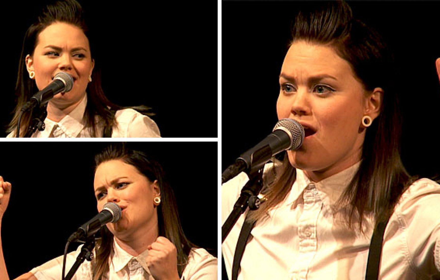 Erika Jonsson sjunger country på värmländska
