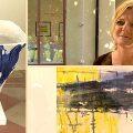 Urnor i havets färger på Galleri Bergman