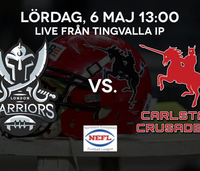 Carlstad Crusaders vs. London Warriors
