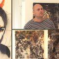 Sackarias Luhanko får hjälp av regnet i sina målningar